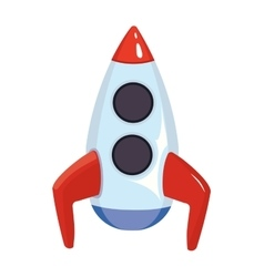 cartoon of space rocket ship vector image vector image