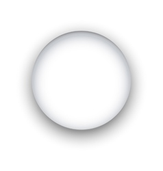 Circle with shadow vector image