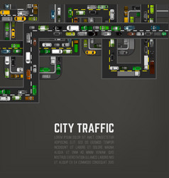 city traffic background vector image vector image