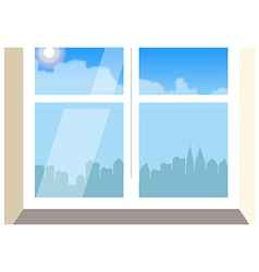 Cityscape Window View vector image vector image