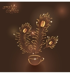 Cup of Arabic Coffee vector image