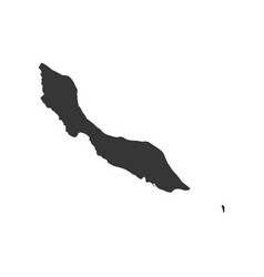 Curacao map silhouette vector