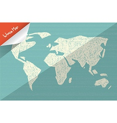 Doodle World Map vector image