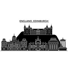 England edinburgh architecture city vector