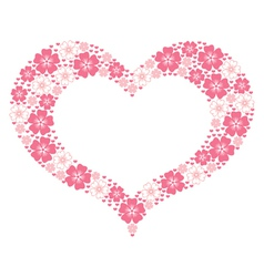 flower heart form vector image vector image