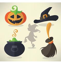 Halloween collection vector