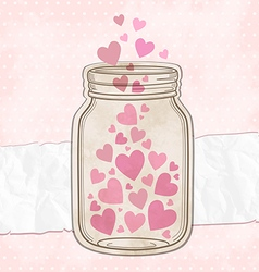 Hearts pink vector image vector image