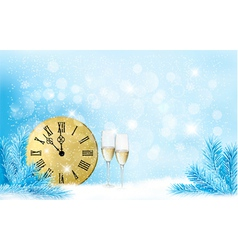 Holiday blue background Happy New Year vector image vector image