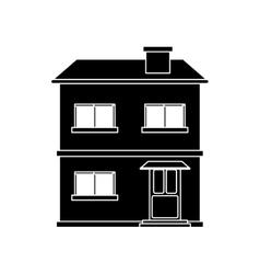 House facade residential estructure pictograh vector
