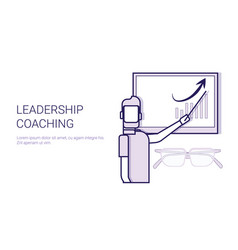 Leadership coaching mentor trainings concept vector