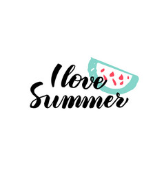 Love summer calligraphy vector