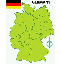 Map of germany and flag vector