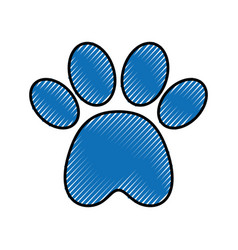 Paw footprint mascot isolated icon vector