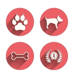 Pets icons Cat paw with clutches sign vector image