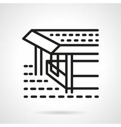 Pier black line design icon vector image