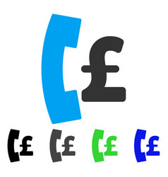 Pound pay phone flat icon vector