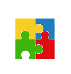 Puzzle art on white background vector