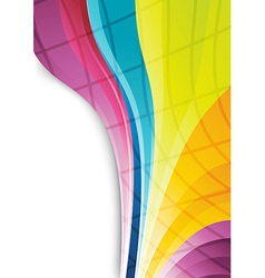 Rainbow lines - abstract background vector image vector image