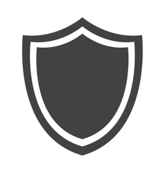 shield protection emblem insignia security vector image