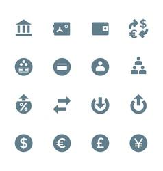 solid grey various financial banking icons set vector image vector image
