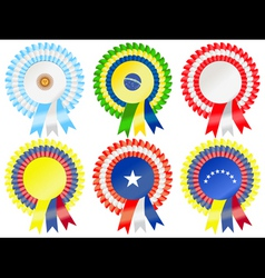 south american rosettes vector image vector image