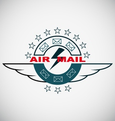 Stamp Air mail vector image vector image