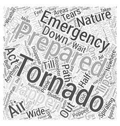 Tornado emergency preparation word cloud concept vector