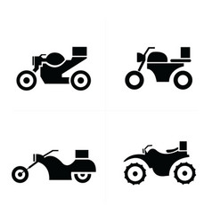 Transport motorcycle icons icons vector