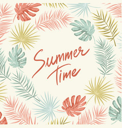 tropical summer frame vector image vector image