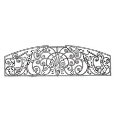 Wrought-iron grill panel is a late german vector