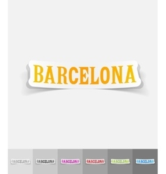 realistic design element Barcelona vector image