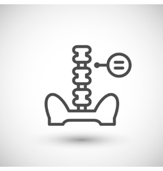Human spine line icon vector