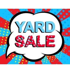 Sale poster with yard sale text advertising vector