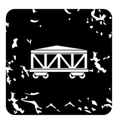 Wagon train icon grunge style vector