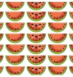 Sweet fruit character kawaii style vector