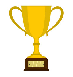 gold trophy cup icon isolated vector image