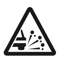 loose chippings and gravel line icon vector image