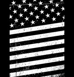 Grunge black and white united states of america vector