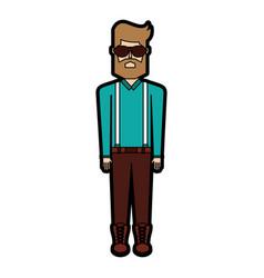 Vintage body man cartoon vector