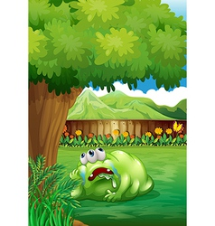 A tired monster under the tree vector