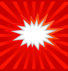 Bang background red vector