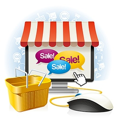 Internet shop vector