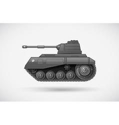A military armoured tank vector
