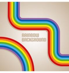 simple rainbow background vector image