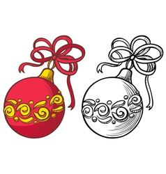 Ball decoration vector