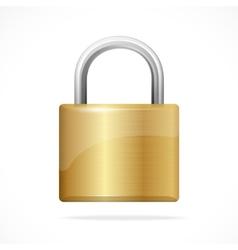 locked padlock gold isolated vector image
