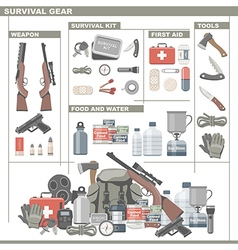 Survival gear vector