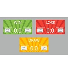 Win lose draw patterns vector