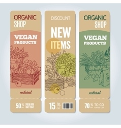Organic shop banners vector