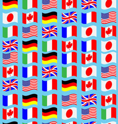 Seamless pattern flag g7 wave vector